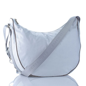 Borbonese White Top Zip Sling Bag