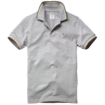Hilfiger Denim Light Grey Paddy Polo Shirt
