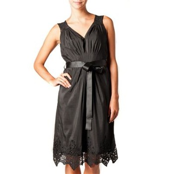Kookai Black Cut Out Trim Dress