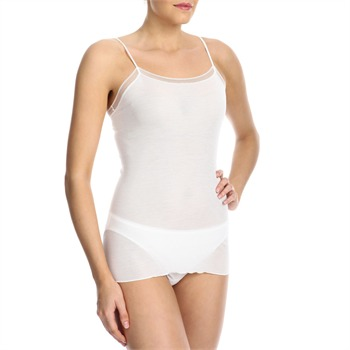 Hanro Off White Silk Tank Top