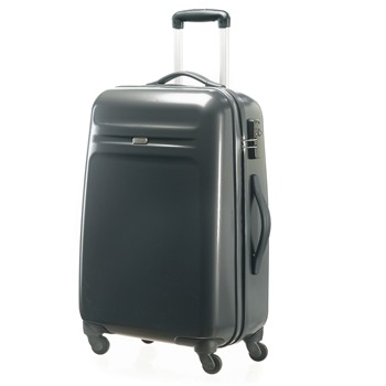 American Tourister By Samsonite Charcoal Zipped Spinner Suitcase 66cm