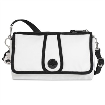 Kipling White/Black Inzai Small Cross Body Bag