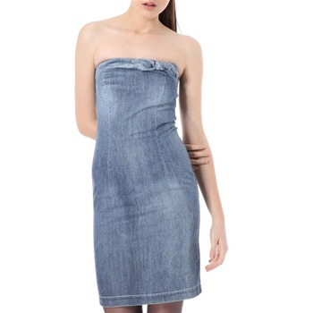 Love Moschino Light Blue Strapless Denim Dress