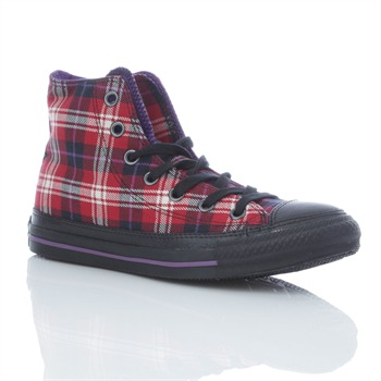 Converse Women's Multi-Coloured/Black Tweed High Top Trainers