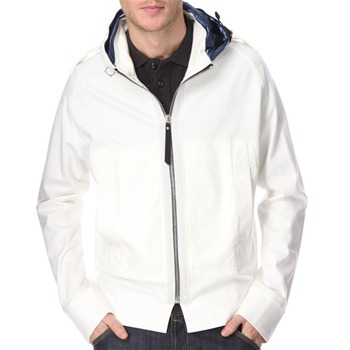 Ma Strum Off-White Cotton Mercerized Hooded Jacket