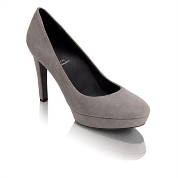 Rockport Grey Suede Janae Court Shoes 10cm Heel