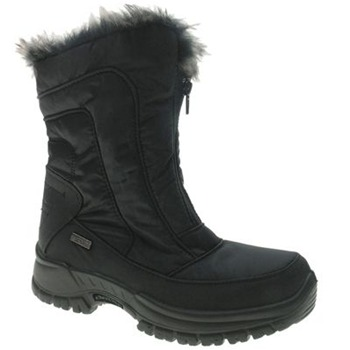 Beppi Black Front Zip Snow Boots