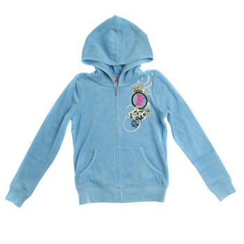 Juicy Couture Blue Metallic Logo Hooded Top 8-14 Years