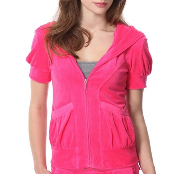 Juicy Couture Neon Flash Puff Sleeve Hooded Top