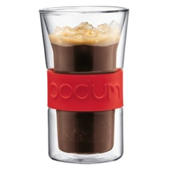 Bodum Set of Two Red Presso Double Wall Glasses 0.3L