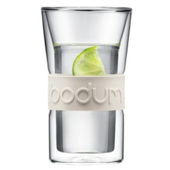 Bodum Set of Two Grey Presso Double Wall Glasses 0.3L