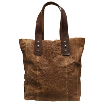 Muubaa Tan Camillo Leather Tote Bag