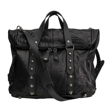 Muubaa Black Florizel Kelly Leather Bag