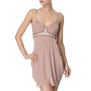 Lipsy Pink Embellished Babydoll Dress