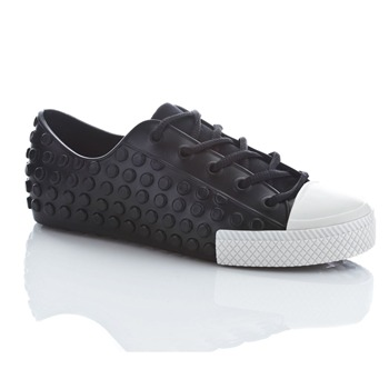 Melissa Black/White Polibolah Jelly Trainers