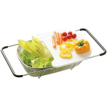 Premier Housewares Silver Sink Drainer/Chopping Board
