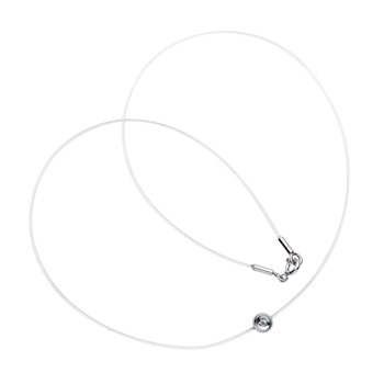 Saint Germain Transparent/Sterling Silver Charm 0.03 Ct Diamond Necklace