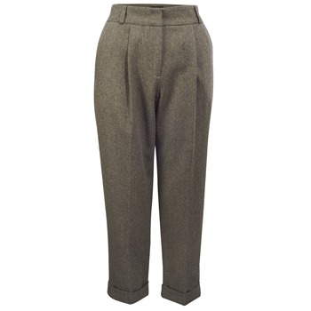 Great Plains Lapin Gatsby Herringbone Cropped Trousers