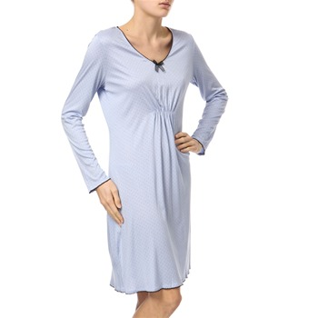 Hanro Bluebell Lulu Long Sleeve Nightdress