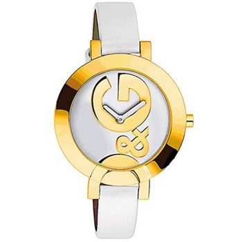 Dolce & Gabbana Ladies White/Gold Hoop La Watch