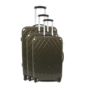 Jean Louis Scherrer Set of Three Brown Miami Suitcases