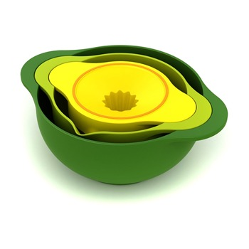 Joseph Joseph Green/Yellow/Nest Three Bowls