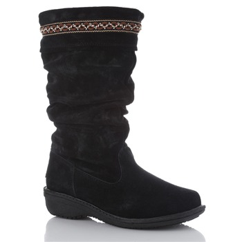 Bearpaw Black Barrow Suede Boots
