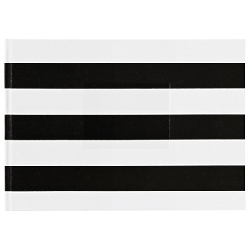 Ordning and Reda Black/White Striped Elsa Photo Album