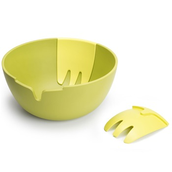 Joseph Joseph Green Hands On Salad Bowl/Servers