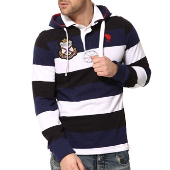 Canterbury Multi Lambie Striped Hooded Rugby Shirt
