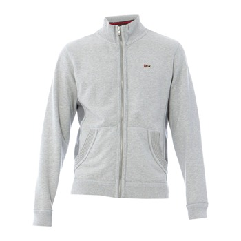 Napapijri Grey Marl Zip Cotton Jumper