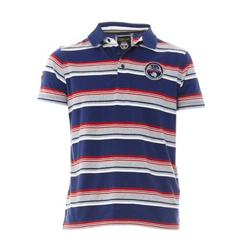 Napapijri Navy Striped Polo Shirt