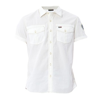 Napapijri White Short Sleeved Cotton Shirt