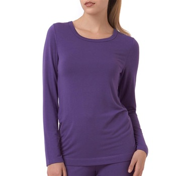 DKNY Purple Plain Front Shirt