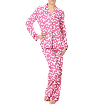 DKNY Pink Printed Cotton Blend Pyjamas