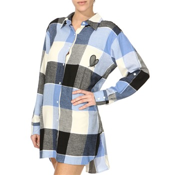 DKNY Light Blue Checked Sleep Shirt