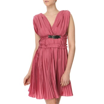 Miss Sixty Raspberry Olympe Pleated Dress