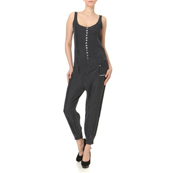 Miss Sixty Charcoal Button Front Silk Jumpsuit 25