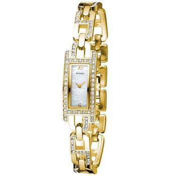 Accurist Watches Ladies Gold Tone/Mother Of Pearl Watch