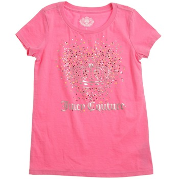 Juicy Couture Pink Fizz Metallic Crown T-Shirt