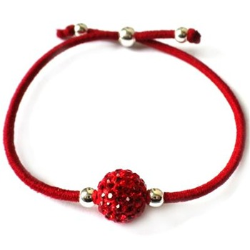 Love Crystal Red/Gold Austrian Crystal Bead Bracelet