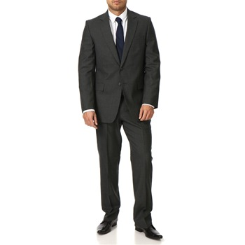 Jaeger Grey Plain Weave Wool Suit