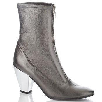 BIBA Pewter Biba Metallic Ankle Boots 9cm Heel