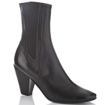 BIBA Black Heeled Chelsea Boots 8.5cm Heel