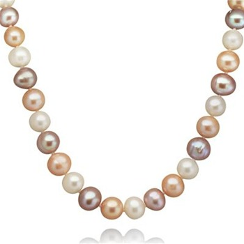 Nova Pearls Pink/Violet Princess Pearl Necklace