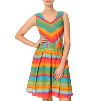 Vivi Boutique Multicoloured Striped Cotton Dress