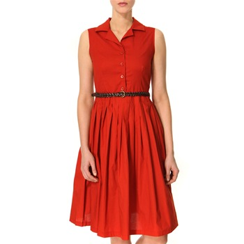 Vivi Boutique Rustic Red Cotton Shirt Dress