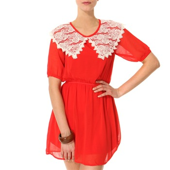 Vivi Boutique Red Lace Collar Dress