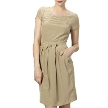 Kookai Beige Bow Front Shift Dress