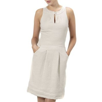 Kookai Beige Linen Shift Dress